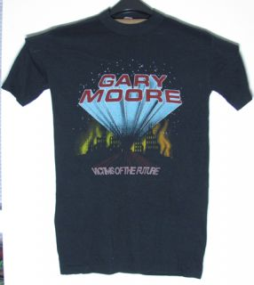 Original Vintage 1984 Gary Moore Victims Concert T Shirt Thin Lizzy