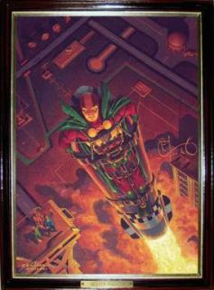 Gerald Walker Original Mister Miracle Oil Painting After Kirbys 1