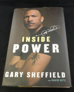 Gary Sheffield Signed Inside Power Hardcover Book Auto