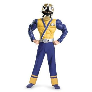 Power Rangers Gold Ranger Samurai Muscle Child Costume Size 7 8