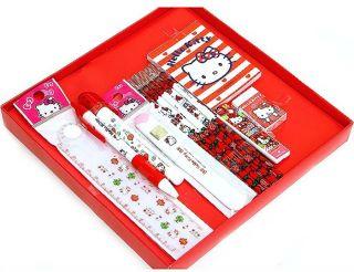 Hello Kitty stationery Set, Useful School Stationery Gift Box note pad