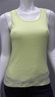 Faded Glory Ladies Womens XL Sleeveless Tank T Shirt Tee Neon Green