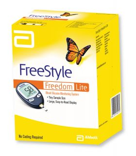 Freestyle Freedom Lite Blood Glucose Meter Monitor Kit