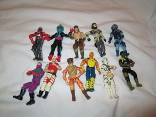 Vintage Gi Joe Action Figures Lot of 11