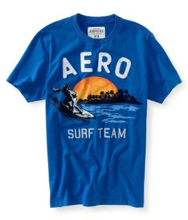 Mens Aeropostale 1987 Aero Surf Team Graphic T Shirt 2XL Blue