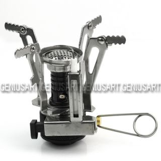 mini gas powered butane propane camping picnic stove outdoor burner