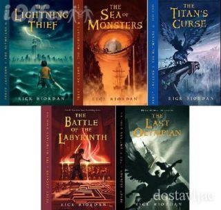 JACKSON AND THE OLYMPIANS Rick Riordan Book #1 5 Plus 2 Bonus Books