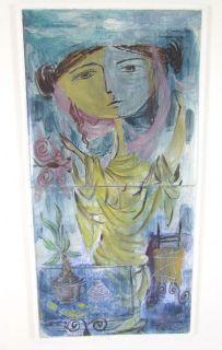 Art Tile Painting Listed Artist Gertrude Barrer Modernist