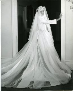 Vintage 60s Mary Martin Sound of Music Wedding Gown Photo by Friedman