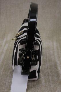 Parker Fisher Island Zebra Print Gillen Shoulder Bag Small $199