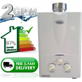 Tankless Hot Water Heater Propane Gas New Instant on Demand 2 0 GPM