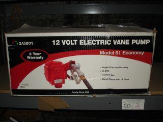 Gasboy Model 61 14 GPM Electric Fuel Pump