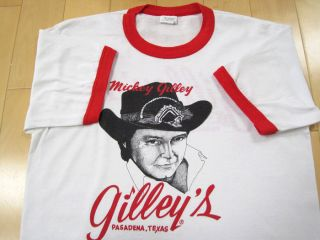 Gilleys 80s Vintage Mickey Gilley Ringer T Shirt Texas Country Music