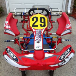 Used 2010 Birel AR28 Z Racing Go Kart Jr Sportsman Chassis