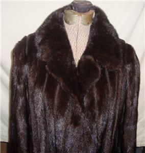Vintage MINK WOMENS FULL LENGTH FUR COAT Goldsteins of BIRMINGHAM