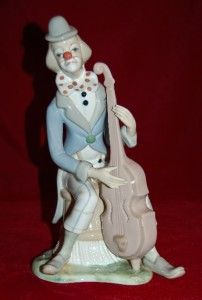 Tengra Clown with Contrabass Large 13 Cute Porcelain Figurine Made