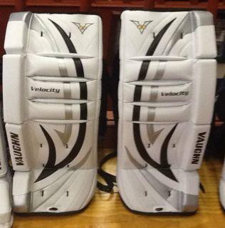 Vaughn Velocity 5 V5 7110 Youth Ice Hockey Goal Goalie Leg Pads