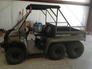 John Deere Gator 6X4, Gas, Dump Bed, 3000 lb Winch, Canopy, Tow Hitch