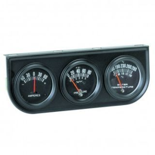 Amp Oil Pressure and Water Temp Gauges with Bracket and Senders