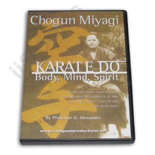 Chogun Miyagi Okinawan Goju Ryu Karate Do DVD George Alexander