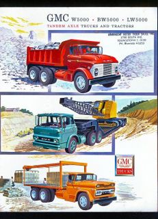 1961 GMC Trucks Tandem Axle Trucks Dealer Brochure
