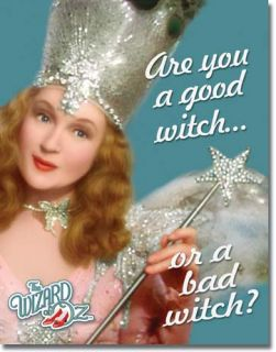 Vintage Retro Tin Sign Wizard of oz Good Witch or Bad