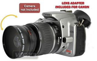 45X Wide Angle Lens for Canon EF s 18 55mm F 3 5 5 6 1100D 1000D