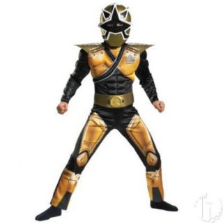 Power Rangers Mega Gold Black Samurai S Small 4 6 Muscle Child