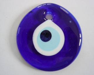 Lucky Evil Eye Nazar Boncuk Good Luck Charm Glass 8cm KSPS02