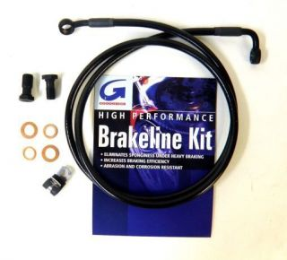 Goodridge Black Front Brake Line for Harley Dyna FXD and FXDC Models