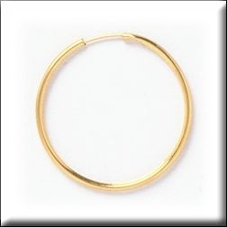 Simply Whispers Gold 1 Hoop Continuous Wire Earrings