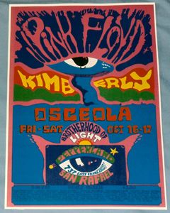 Pink Floyd Concert Poster Atom Heart Mother Tour Pepperland 1970