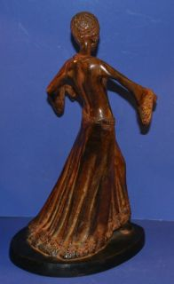 Art Deco Bronze Ball Room Dancing Woman Statue