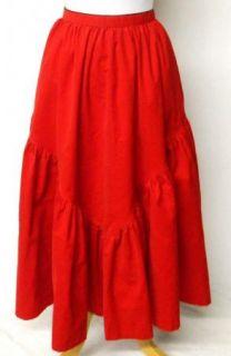 Vintage 80s Gene Ewings Bis Size 44 Red Corduroy Suit Ruffle Full