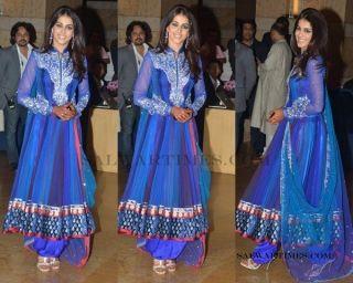 Indian Bollywood Star Genelias Replica Designer New Salwar Shalwar