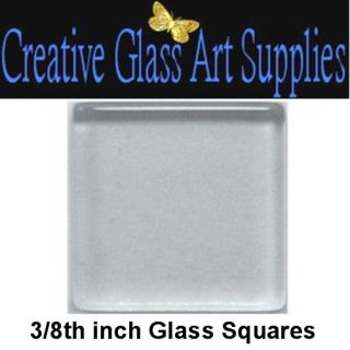 100 3 8 inch Clear Glass Square Mosaic Tiles Jewelry Paint Decoupage