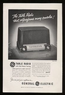 1951 General Electric GE Table Radio Model 422 Print Ad