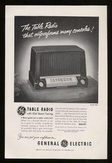 1951 General Electric GE Table Radio Model 422 Print Ad