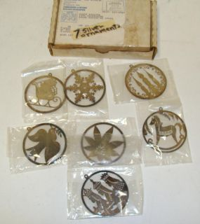 Vintage General Mills Cereal Promo Real Silver Christmas Ornaments