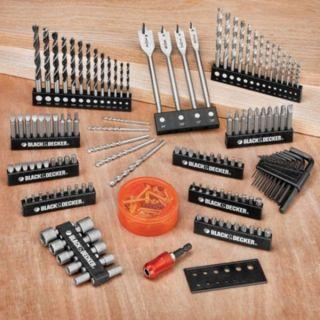 195 Piece Black & Decker Drill Bit & Driver Set Screwdriver Tools Case