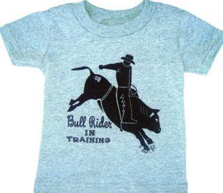 Bull Rider Western Cowboy Tshirt for Boys Sizes 2T 3T