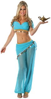 Sexy Blue Genie Belly Dancer Harem Girl ARABIAN NIGHT Costume Small