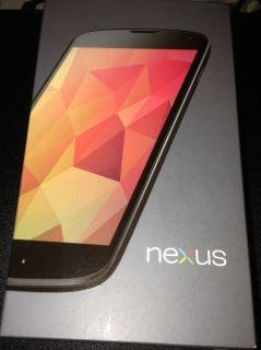 New Google Nexus 4 E960 16GB Cell Phone Black Unlocked Smartphone