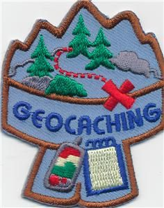 Girl Boy Cub Geo Caching Blue Fun Patches Crests Badges Scout Guide