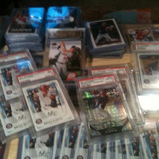 Huge Bryce Harper 115 Card Lot Hot Investment Lot PSA BGS