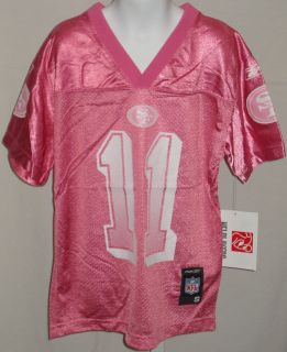 San Francisco 49ers Football Youth Girls Jersey Smith 11 Pink