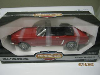 1964 1 2 Ford Mustang 1 12 Scale Ertl American Muscle