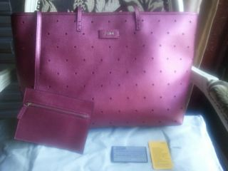 NWT AUTHENTIC Fendi Perforated Roll Bag Raspberry Leather NWT $1190