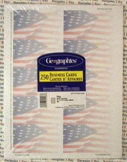 750 Geographics Business Cards American Flag Design Background New NR