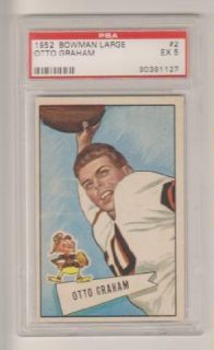 1952 Bowman Large Otto Graham PSA 5, Cleveland Browns. Sharp Looking
